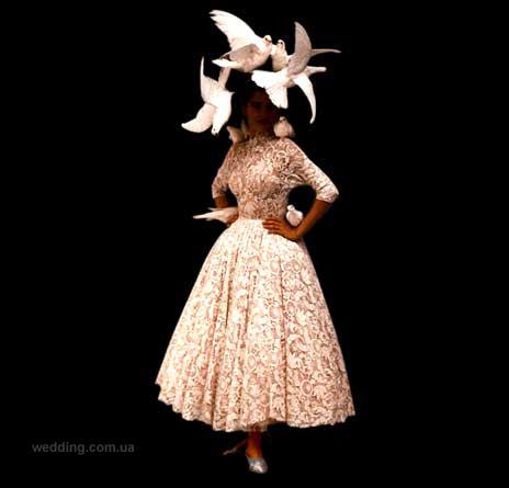 Свадебное платье птицы