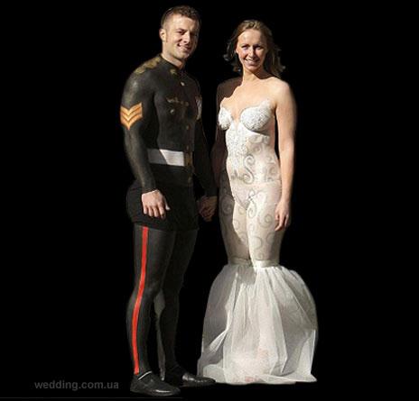 Свадебное платье бодиарт